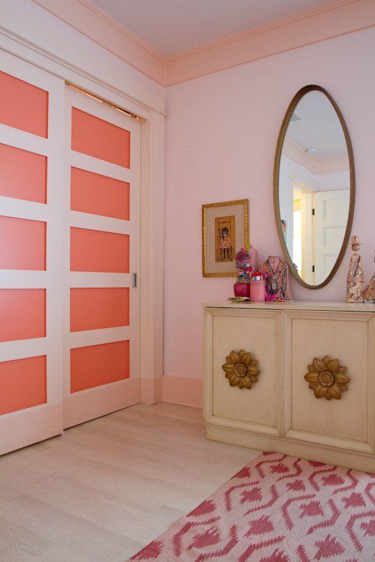 9 Soft & Successful Spring Wall Paint Colors from Real Homes | Apartment Therapy.  Benjamin Moore Sunlit Coral.