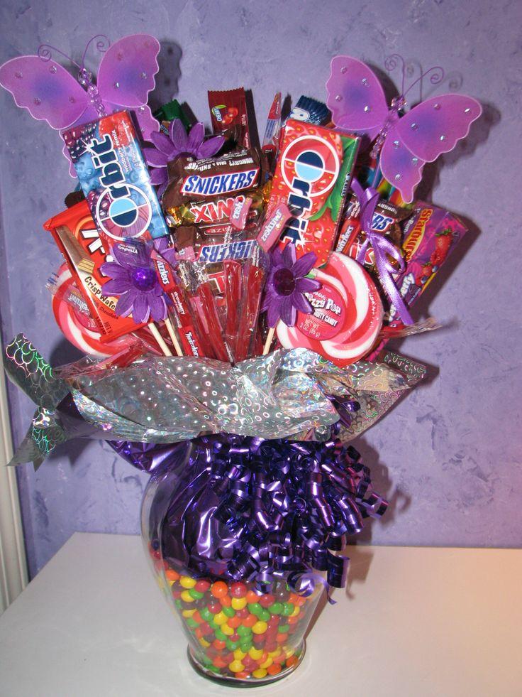 Diy candy bouquet fun birthday gifts pinterest