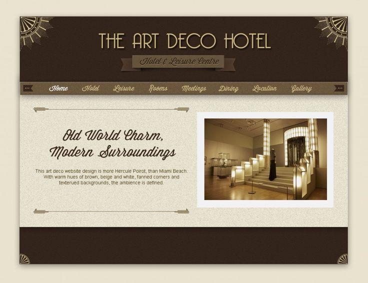 Files For Art Deco Style Web Design