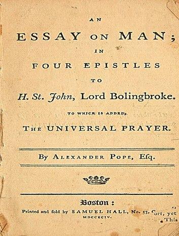 An essay on man epistle 1