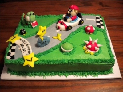 Mario Kart Birthday Cake By harpinhaley on CakeCentral.com