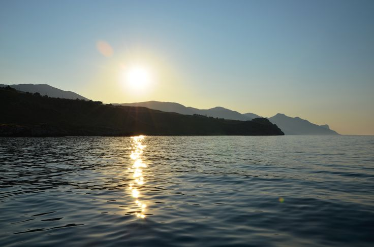 Sunset on the Zingaro nature reserve, on the North West coast of Sicily.  http://www.dreamsicilyvillas.com/guide/sicily-natural-sites/zingaro-nature-reserve/