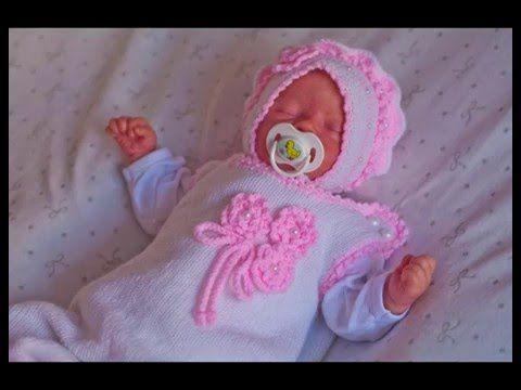 """Комплект для новорожденного """"первые наряды"""" комбинезон, жакет, шапочка - YouTube"""