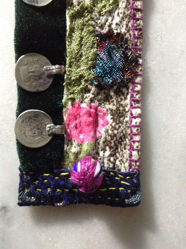 Detail colors textile bracelet