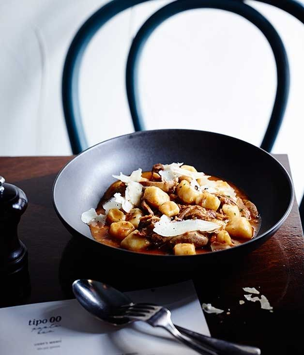 Tipo 00s Gnocchi with duck ragù and porcini mushrooms :: Gourmet Traveller