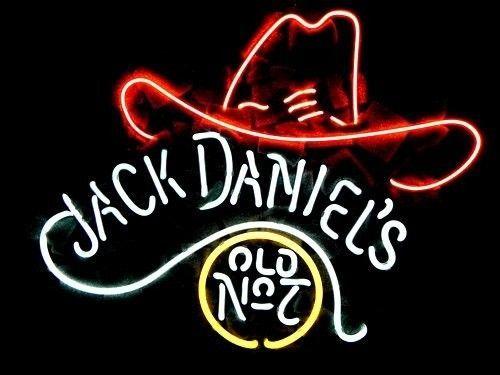 Jack Daniel's Old No.7 Cowboys Hat Neon Light Bar Pub Sign