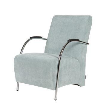 WOOOD fauteuil Halifax ribcord poederblauw kopen? Verfraai je huis & tuin met Fauteuils van KARWEI