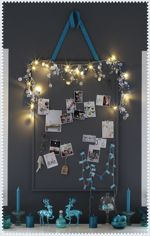 Creative Corkboard..Now I know what we can do with those string beads!