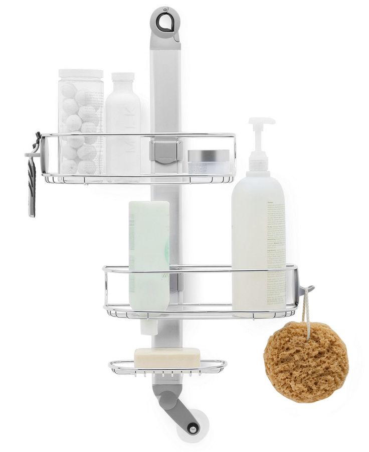 Simplehuman bath accessories adjustable shower caddy for Bathroom shower accessories