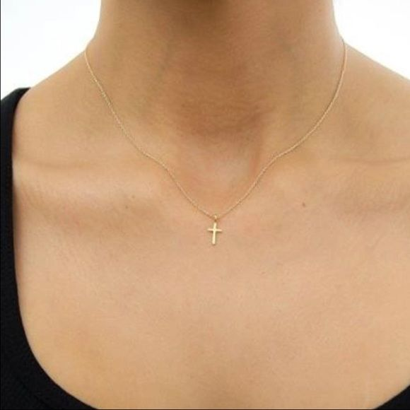 Delicate Cross chain This Beautiful cross delicate Necklace is perfect for everyday. Restocked!❤️ three layer necklace statement necklace. New. Available in both gold and silver. Gold plated and silver plated. Dainty necklace Jewelry Necklaces