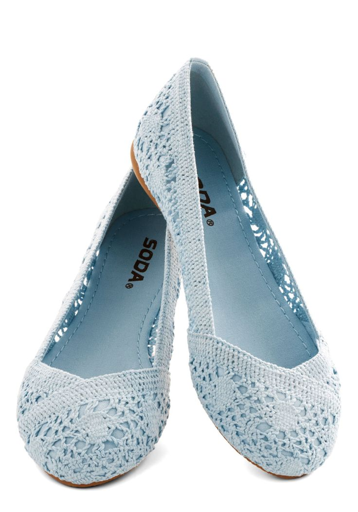 Morning Ritual Flat. You've always been an early riser, but you're sure that waking before the sun is even easier when you're planning to wear these sky-blue flats throughout the day ahead! #blue #modcloth
