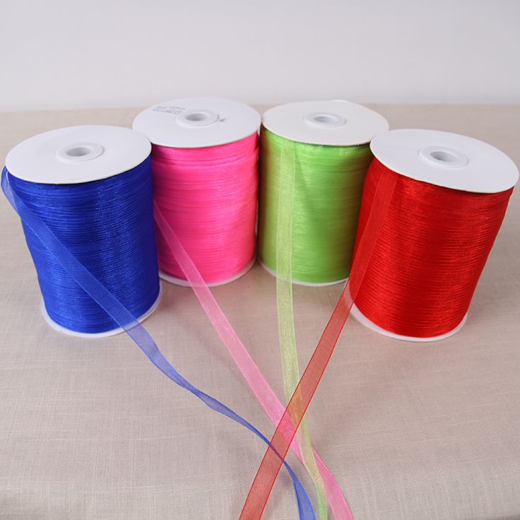 (500 Yards/lot) (10mm) Double Face Organza Ribbon for Christmas and Birthday Gifts Wrapping Decoration Ribbons #ChristmasDecor