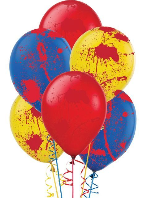 Blood Splatter Balloons 6ct - Creepy Carnival - Party City