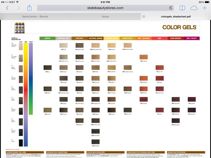Redken color gels chart 3 i m going papaya marigold hair hair