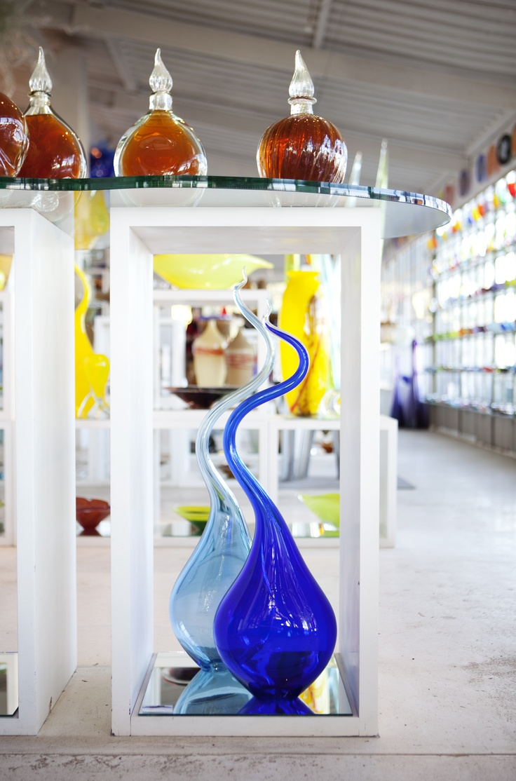 Red Hot Glass display