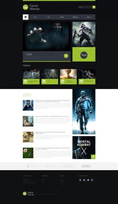 Prosperdesign Creare Site Stiri Jocuri by ProsperDesignWeb.deviantart.com on @DeviantArt