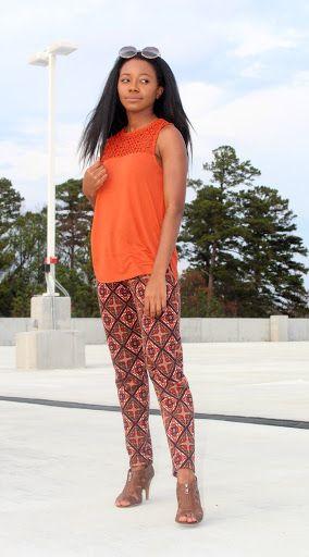 Burnt orange from #HM | petitelypackaged.com #petite #petitefashion #lblogger #fblogger #blackgirlswhoblog