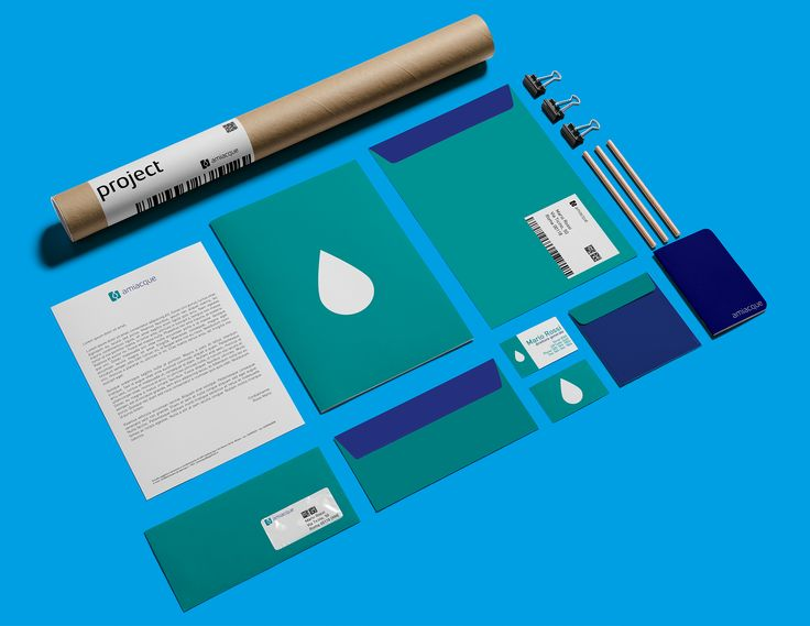 Re[generate] Amiacque Brand - Business Stationery Graphics