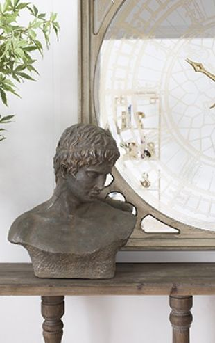 ATTICUS BUST - Regal and powerful, this Roman inspired ceramic bust is an elegant piece for your home. Use it as a feature piece atop mantelpieces, bookcases, or in your study. #ceramicbust #bust #cesar #romanstyle #ceramic #decor #homedecor