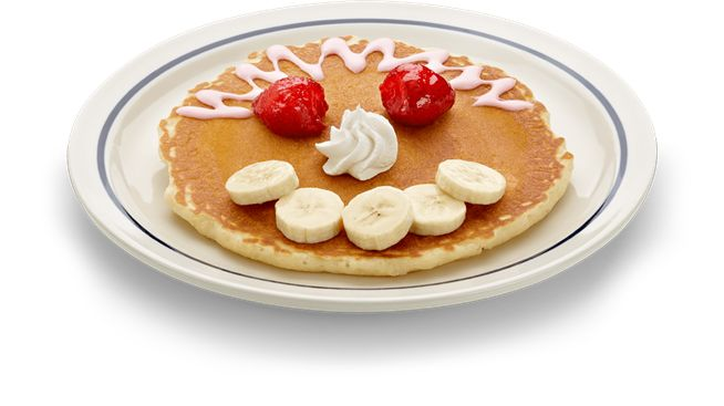 Funny Face Pancake at IHOP - Restaurants that make cool pancakes for kids!