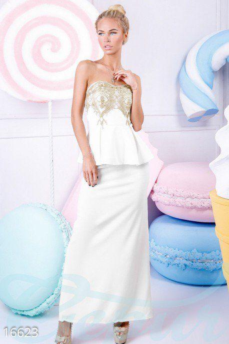 Элегантное платье превращающее любую девушку в воспетую поэтами таинственную незнакомку. #макси #платье #вечернее #коктейльное #баска #нарядное #торжественное #свадебное #платье #невеста #гипюр #гепюр http://gepur.com/