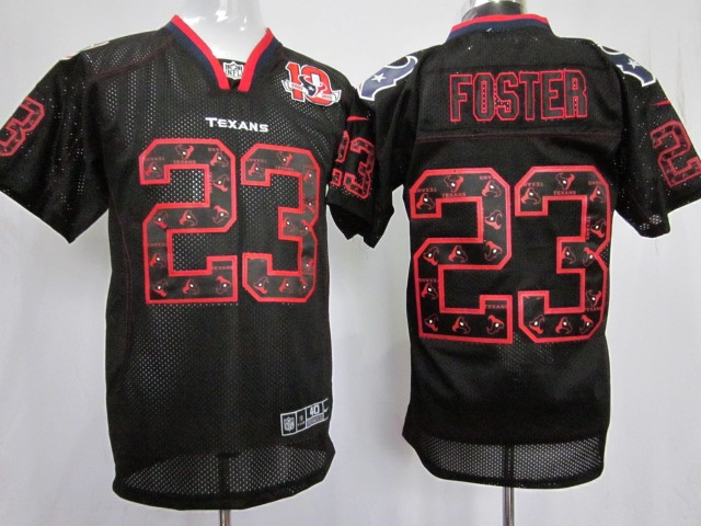 jerseys black arian foster 10th patch lights out elite nike nfl houston texans 23 jersey id