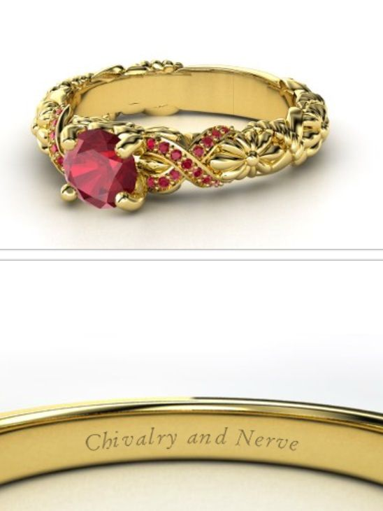 Hogwarts house rings - Gryffindor. Beautiful wonder where to find this. This may have to be my engagement ring