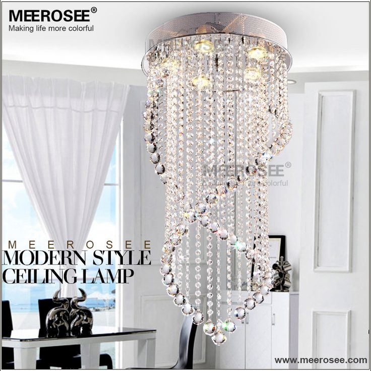 lampara de cristal lamparas de techo espiral habitacion claro
