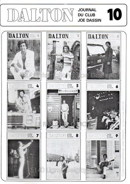 Club International Joe Dassin - Le Fan Club Officiel: 1980 - Couverture du journal DALTON n°10