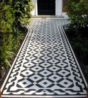 Geometric flooring,     period,victorian, edwardian path, pathways