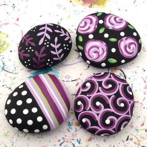 17 best images about crafts rocks cement bricks on for Pretty designs to paint