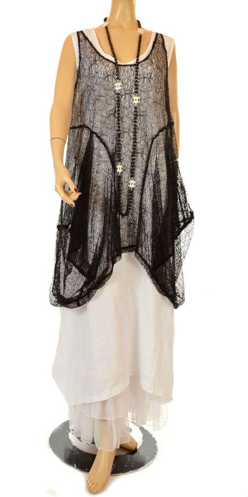 Kamuflage Exquisite & Intricate Black Lace Layering Tunic-Kamuflage,