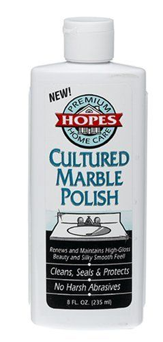 Hope 39 s cultured marble polish 8 ounces by hope 39 s - How to clean marble bathroom vanity top ...