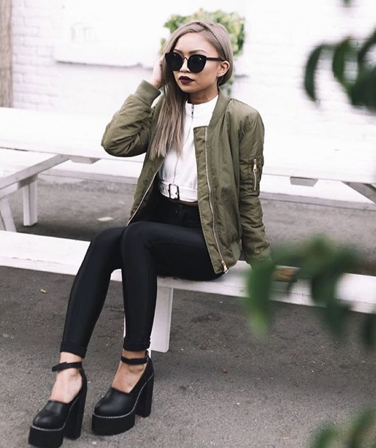 cool, calm, & collected with #blogger babe @paudictado in the bomber jacket! http://www.2020ave.com/collections/outerwear/products/solid-lightweight-bomber-jacket?variant=19410438599