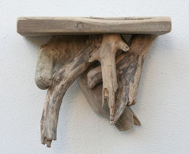 7 best driftwood shelves images on pinterest driftwood for Driftwood wall