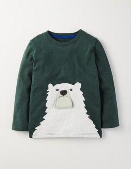 Evergreen/Polar Bear Animal Antics T-shirt Boden