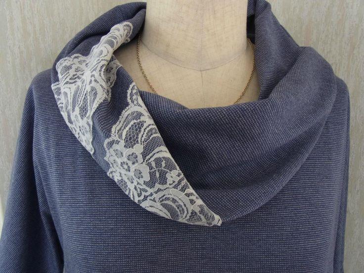 残り布で、ねじりスヌード考えてみました。&作り方紹介 - かんたん洋裁(TANAKA式カットソー)ブログ
