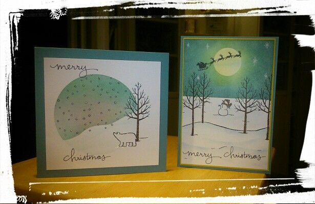 Stempelsets white christmas, holiday home en endless wishes