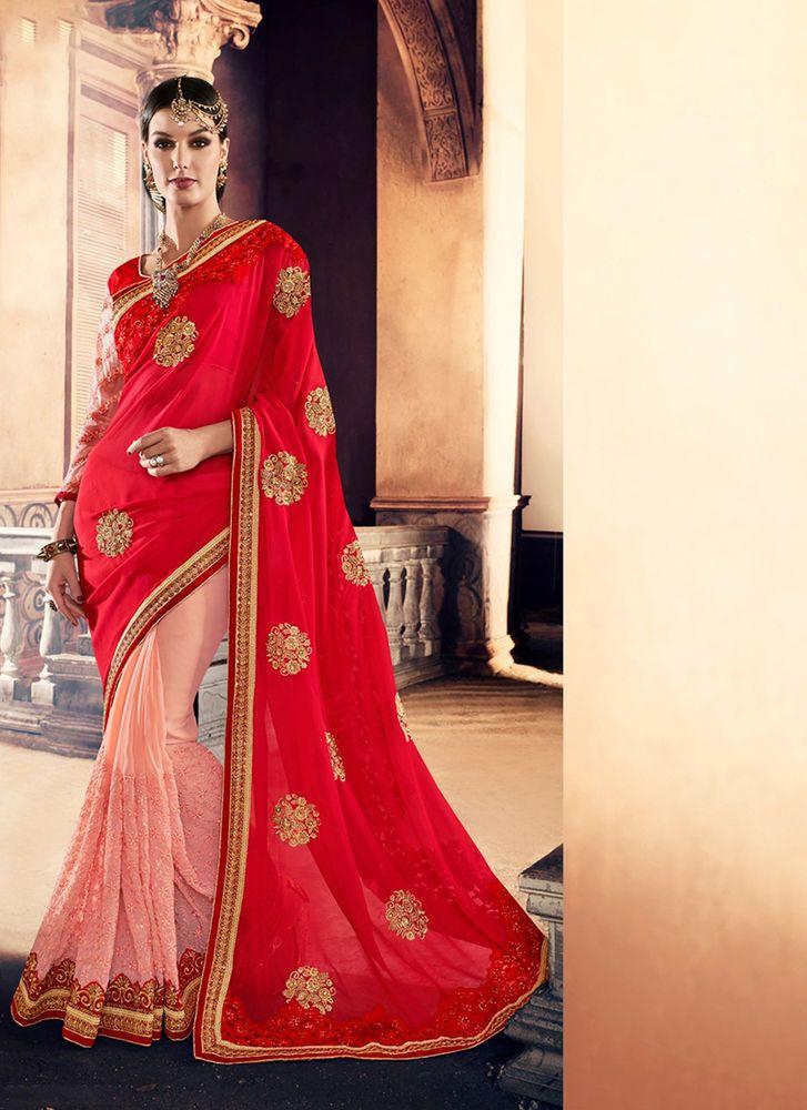 Wedding Designer Sari Partywear Bollywood Pakistani Indian Dress Ethnic Saree #KriyaCreation #DesignerSaree