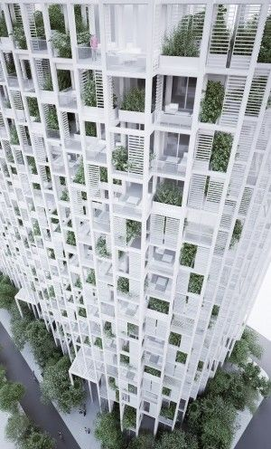 Architecture studio penda releases plans for a mixed-use garden tower that marries dense, urban living and natural elements.