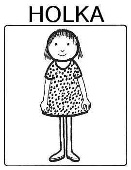 Části těla - panák holka