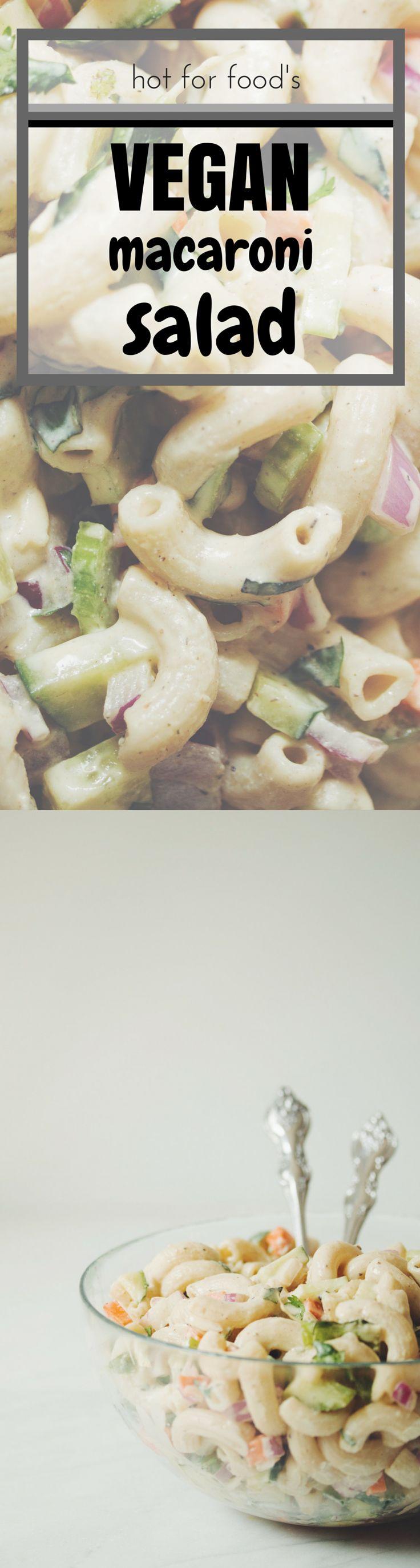 the best vegan macaroni salad | RECIPE on hotforfoodblog.com