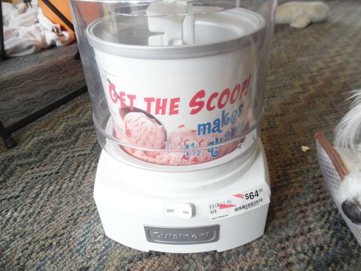 Cuisinart frozen yogurt-Ice cream & sorbet maker new model ice-21 #cuisinart