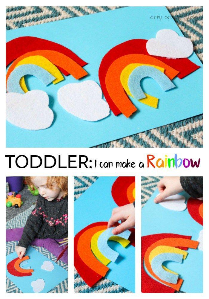 Toddler Rainbow Activity DIY Felt Story Board