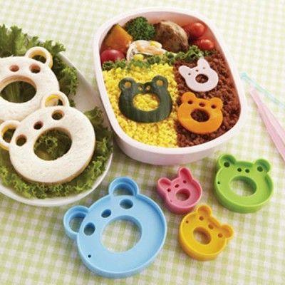 Wild Animal Food Cutters http://littlebentoworld.com/shop/food-cutters/wild-animal-food-cutters/