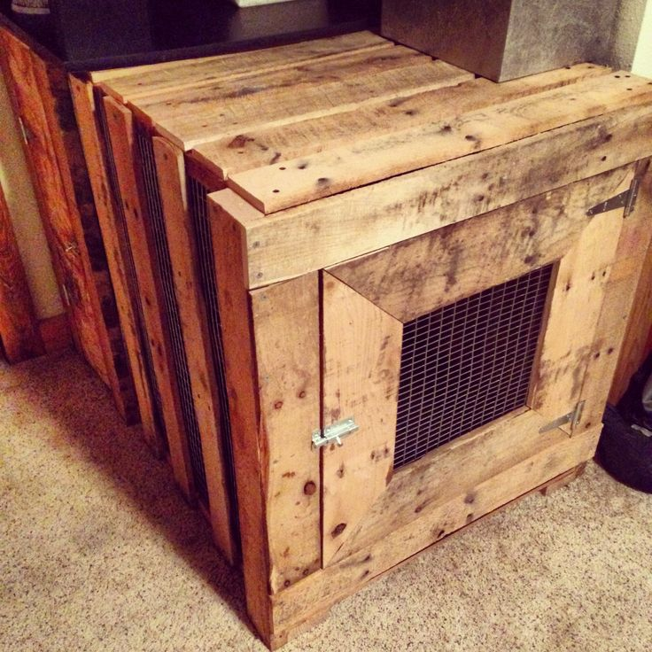 how to build a dog cage out of pallets
