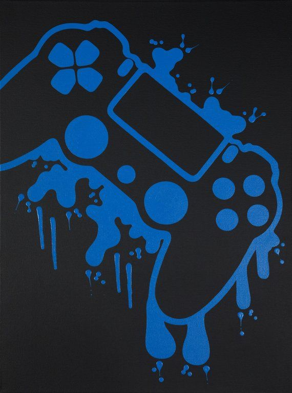 Playstation 4 Video Game Controller Painting Video Game Art Hand Painted Custom Colors Custom Wall Art Video Game Decor Teenage Wall Art In 2021 Video Game Decor Game Controller Art Video Game Art