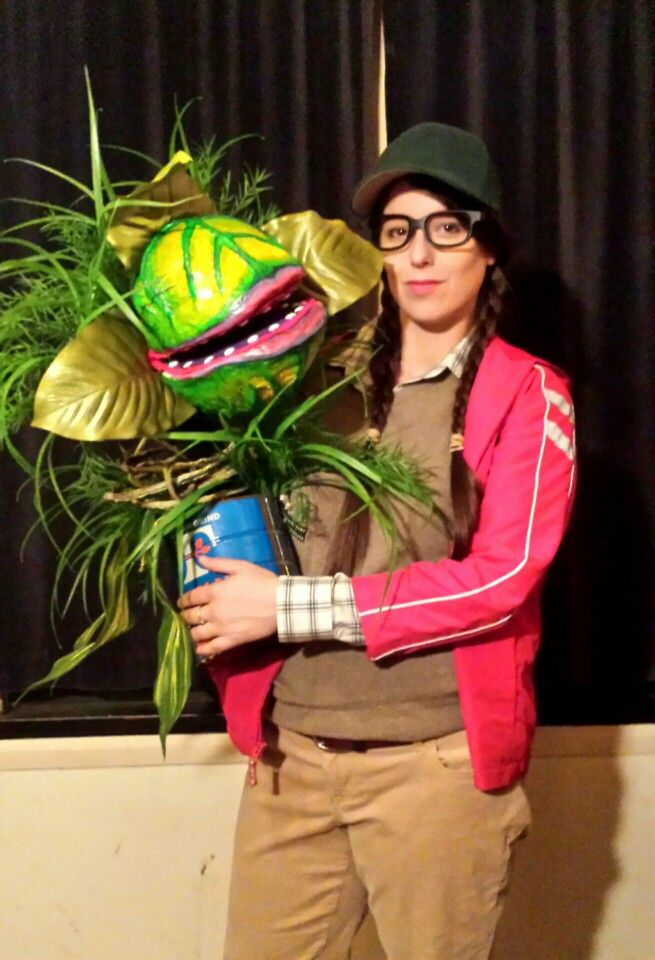 Little Shop of Horrors puppet & costume.  With a fully moving, talking Audrey 2 and a female Seymour.  Halloween 2015.