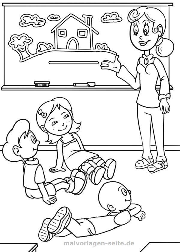Malvorlage Schule | Pinterest