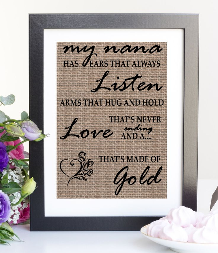 New to LetteredWhimsy on Etsy: Personalized gifts for nana grandma grandpa burlap print grandma to be gift for grandma new grandma gift nana sign nana gift (17.00 USD)